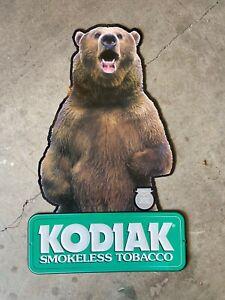 Kodiak tobacco, Kodiak Grizzly Bear Metal sign Smokeless Chew Chewing Tobacco