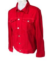 H&M red denim jacket size S