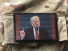 President Donald Trump Morale Patch Tactical ARMY  Military USA Inauguration