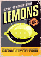 LEMONS KITCHEN ADVERTISING METAL SMALL SIGN  pub bar shop cafe tea room tin