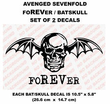 Avenged Sevenfold Sticker Decals ,The REV Batskull 2x, A7X foREVer MANY COLORS