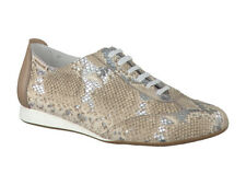 Ladies Casual Lace Up Shoe Mephisto Becky Silver EU Size 3.5