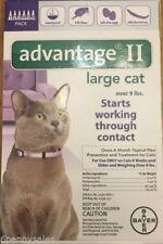 Advantage II Flea Medicine Large Cats 6 Months Purple Drops 9-18 lbs DAMAGED BOX