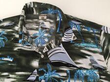 """Men's Vintage Hawaiian vert chemise été taille XL 46 - 48"""""""