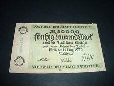 Billete Original de Alemania 50,000 Marcos 1923 Raro Nota (