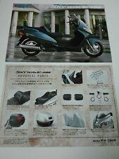 Prospectus Catalogue Brochure Moto Suzuki 400 Sky Wave 1999 Japanese