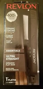 Revlon Ceramic Flat Iron for Ultra Straight Hair and Smooth Shiny Results 1 Inch