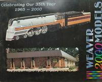 Weaver 2000 Catalog Model Train Railroad Magazine - VG