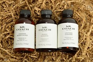 Choose 1 Coach Leather Cleaner Leather Moisturizer Fabric Cleaner 4 oz Purse