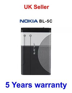 Nokia BL-5C Battery For C101 C2-01 7600 N70 1100 1600 2300 6230 **100% Genuine**