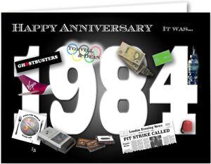 37th Wedding Anniversary Card souvenir of 1984 (2021)