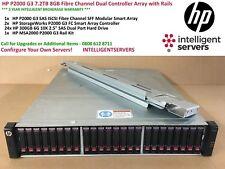 HP P2000 G3 7.2TB 8GB Fibre Channel Dual Controller Array with Rails AP836A