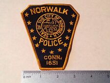 NORWALK CONNECTICUT POLICE PATCH (HIGHWAY PATROL, SHERIFF, EMS)