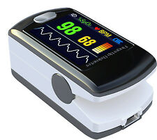 Pulse Oximeter Fingertip CMS50E Black Blood Oxygen SpO2 Monitor FDA, US Seller