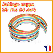 Nappe 28AWG 20 Fils Multi Couleur