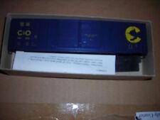 HO Roundhouse 50' Double Door Box Car kit, Chesapeake & Ohio