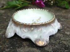1900s Bavarian Porcelain Tree-Trunk Open Salt Dip, Cellar, Dish w/Flowers!