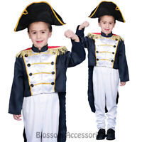 CK718 Colonial General Dress Up America Child Kids Historical Fancy Boys Costume