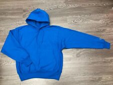 Champion Reverse Weave Hoodie Pullover Royal Blue Mens M C-Patch Embroidery NEW