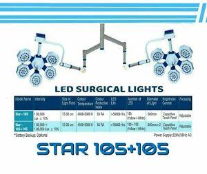 STAR 105+105 Double Satellite Ceiling mounted OT room Light shadowless OT Light