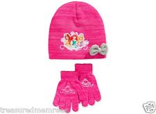 2 Piece Berkshire Fashions Disney Princess Hat & Mitten Set ~ New With Tags