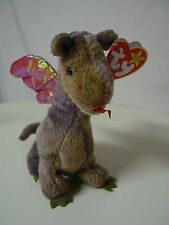 Ty Beanie Baby SCORCH Plush Brown and Green Dragon Original