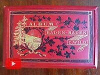 Baden-Baden Germany 1880's souvenir photo album 18 tipped in original pics