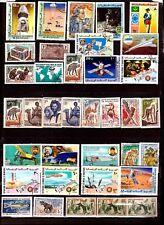ZY348 MAURITANIE 36 timbres : conquete de l'espace,animaux,bivouacs,personnages