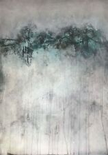 Abstract Art Painting. B.Hachmann from Germany. Mixed Media on canvas. 39x28 in.