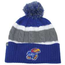 check out a2c2c 956fa Kansas Jayhawks Top of the World Womens Windy Pom Knit Beanie