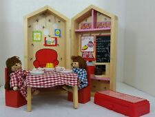 Nice Miniature Foldable Wooden Dollhouse House in a box Doll House Doll Dolls