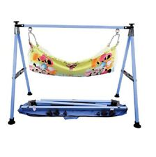 Smart Baby Products Square Blue Colour Power Coated Baby Cradle KRT592
