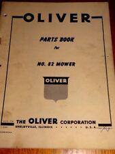 Oliver Parts Book No.82 mower