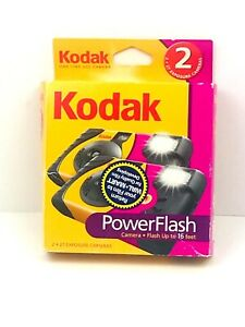 Kodak Power Flash Camera 27 Exp Single Use Disposable Film 2 Pack Sealed