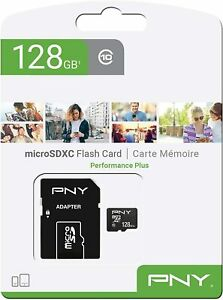 PNY PERFORMANCE PLUS SCHEDA MEMORIA 128GB MICRO SD SDXC CON ADATTATORE