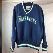 Vintage SEATTLE MARINERS TEAM WINDBREAKER JACKET PULLOVER MLB Starter Size M
