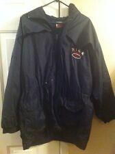 Vtg Nike Sports Navy Blue Hooded Zip Up Jacket Mens XL