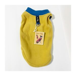 Gooby Dog Stretch Fleece Vest Jacket for 16 - 23 lb Dog Steel Blue small  yellow