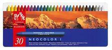 CARAN D'ACHE CLASSIC NEOCOLOR I Water-resistant wax pastel CRAYONS 30 pc