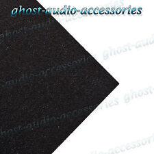 2m Negro Moqueta Acústica & Pegamento para Parcela Estanteria / Elevador