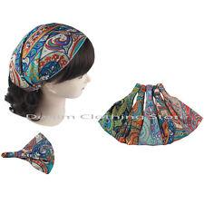 6pc Headwrap Bandana Elastic Back Head Band Turban Workout Yoga Accessorie Lots