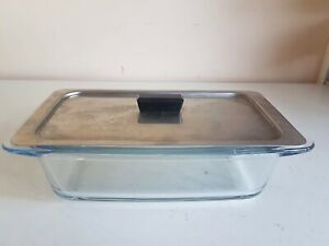 Hostess Trolley Glass Serving Dishes Lid Heatproof Party Dinner Cookingware Kitc