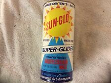 OLD VINTAGE SUN-GLO - CONCENTRATED SHUFFLEBOARD WAX 16OZ. MOISTURE PROOF - N.O.S