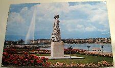 Switzerland Geneve la Statue de la Brise au Quai Gustave Ador Iris 508 - posted