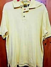 Naturalife Mens Size Medium Yellow 100% Cotton Polo Golf Short Sleeve Shirt