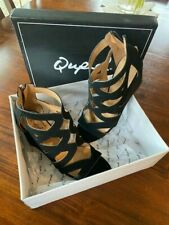 Qupid Joey Shoes / Sandals - Black - Size 8 - NEW