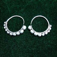 handmade miao silver circle earring Miao Dong people Fashionable exotic tribal