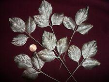 """Vintage Varigated Beige Satin Rose Leaves 2"""" x 1 1/2"""" Made in Japan"""