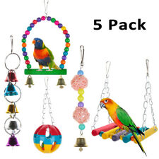 New listing Pet Swing Ladder Hanging Bell Parrot Supplies Finches Nest Bird Cage Bird Toy