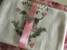 ~Vintage Foxhound Dog Grain Sack Style Tea Towel Kitchen Decor Gift ~